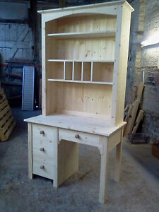 HANDMADE-SOLID-PINE-COMPUTER-DESK-VANITY-DRESSING-TABLE