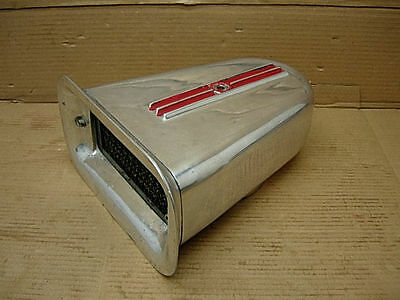 1960s NICSON ENDERLE EELCO 1X4 AIR CLEANER SCOOP ALUMINUM 671 BLOWER HOLLEY BOAT