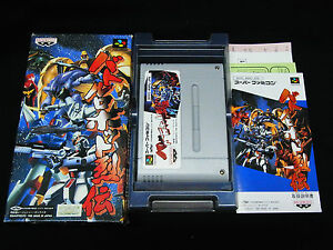 Nintendo-Super-Famicom-SFC-GAME-SNES-Japan-Import-BATTLE-ROBOT-RETSUDEN