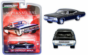 SUPERNATURAL-TV-SHOW-1967-CHEVY-IMPALA-MINATURE-CAR-MODEL