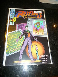 ROBIN-2-Vol-1-No-1-Date-10-1991-DC-comics-Black-Cover-with-Hologram