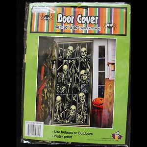 Gothic-SKELETON-PRISONERS-DOOR-COVER-MURAL-Halloween-Party-Decoration-Prop-30x60