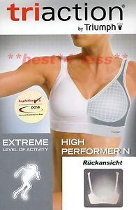 Sport-BH-TriAction-High-Performer-N-weiss-black-schwarz-grau-NEU-TRIUMPH-1A