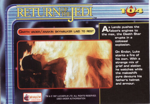 Star Wars Trilogy Trading Cards Pick From List 85 To 112