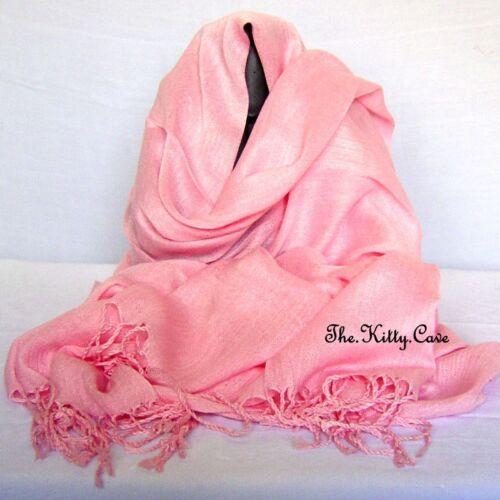 Very Fine Soft 100/% Turkish Cotton Fringed Pashmina Scarf Stole Hijab Head Wrap