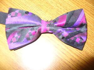USED Bow Tie - FUSCHIA/PURPLE Triston 88888