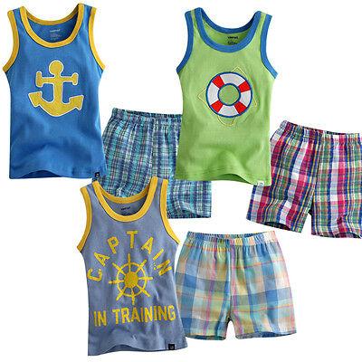 "NWT Vaenait Baby Toddler Kid Boy Sleeveless Sleepwear Pajama set ""Marine Series"""