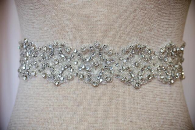 Rhinestone Beaded Bridal Sash/Belt