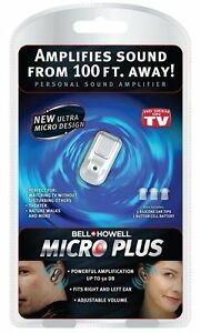 RECHAREABLE-Bell-Howell-Micro-Plus-Sound-Amplifier-hearing-aid-AS-SEEN-ON-TV
