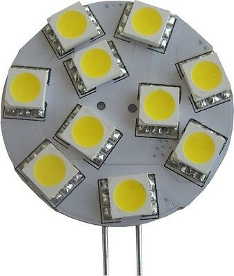 LED G4 Side Pin Disc Omni-Directional Lamp Bulb 12V AC/DC 2.1W