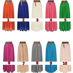 Elegant-Chiffon-Hot-Sexy-Pleated-Long-Maxi-Skirt-Elastic-Waist-Band-Dance-Dress