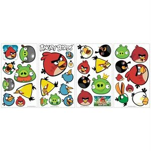 ANGRY-BIRDS-34-Removable-Vinyl-Wall-Decals-Kids-Room-Decor-Stickers-PIGS-App
