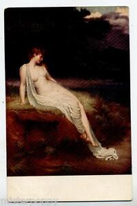 Bellissimo-Nudo-di-Donna-di-autore-Inglese-NUDE-Girl-PC-circa-1915-UK