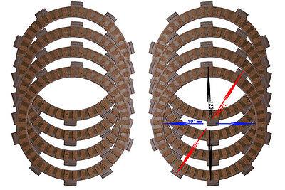 8pcs Clutch Plate kit For HONDA CBR893 CBR900 CBR400 CBR919 CBR929 CBR954 CB919F