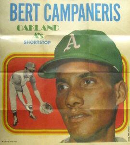 1970-Topps-Poster-Bert-Campaneris-Oakland-A-039-s-NEAR-MINT