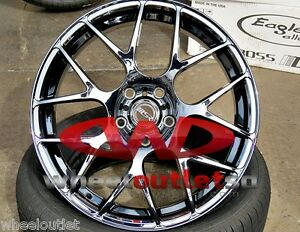 18-MSR-Black-Pearl-Finish-Wheels-with-Performance-Tires-Fit-many-Car-Models