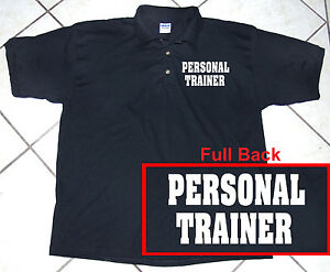 Black-Polo-Shirt-Staff-Personal-Trainer-100-Cotton-S-2XL