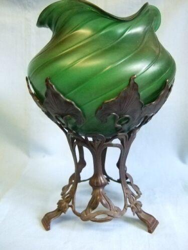 Super Art Nouveau Pallme-Konig bowl on stand.