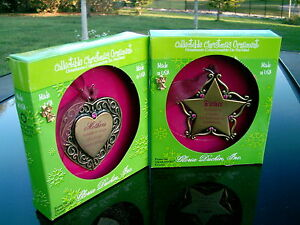 TWO CHRISTMAS ORNAMENTS IN BOX BY GLORIA DUCHIN USA 1) FATHER & 2) MOTHER