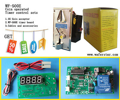 Coin operated timer control board with coin acceptor (coin selector) controller