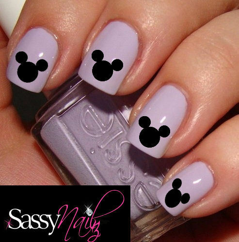 Mickey Mouse Disney Head nail art decal water transfer wrap not sticker /foil