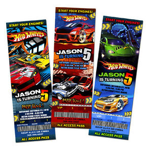 HOT-WHEELS-CARS-RACE-BIRTHDAY-PARTY-INVITATION-TICKET-1ST-personalized-c2
