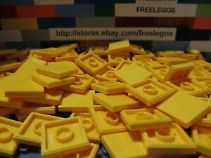 LEGO-3068-Yellow-2x2-Finishing-Flat-Tiles-2-x-2-Floor-Element-Qty-x-50-Pcs