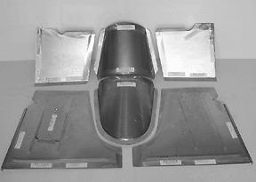 "Ford Pickup Truck Floor Pan Floorboard Big Block Fits 4"" Firewall 1940-47 DSM"