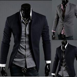 Mens-Casual-TOP-Design-Sexy-Slim-FIT-Blazers-Coats-Suit-Jackets-XS-S-M-L-FF1135