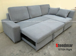 NEW MODERN FUTON SLEEPER BED SECTIONAL SOFA SET S705A