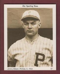 "#87 JIMMY WILSON, 1923 Phillies THE SPORTING NEWS/1981 Conlon Collection 4""x 5"""