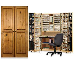 Workbox Scrapbooking And Office Desk Armoire   eBay