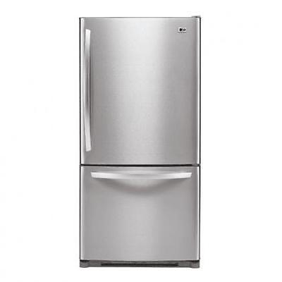 "New LG 22.4' Bottom Freezer Refrigerator Stainless Steel 32.75"" Wide LDC22720ST"