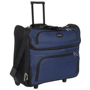 4417a180dd56 Traveler s Choice TS6944N Amsterdam Rolling Garment Bag - Navy for ...