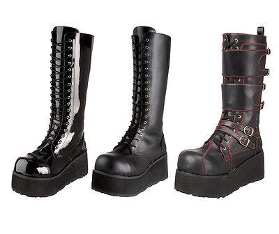 Demonia Trashville-502 510 Men's Punk Goth knee Boots