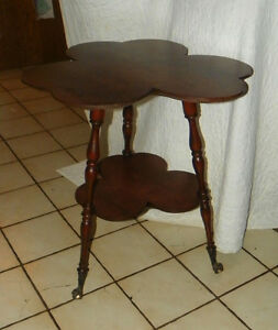 Solid-Cherry-Clover-Lamp-Table-Parlor-Table-T44