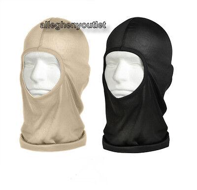 One Hole Lightweight Winter Polypro Balaclava Mask Tan or Black New FREE SHIP