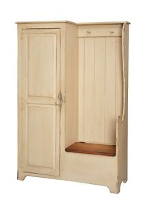 Primitive-Settle-Bench-Entryway-Storage-Hall-Armoire-Farmhouse-Country-Coat-Rack