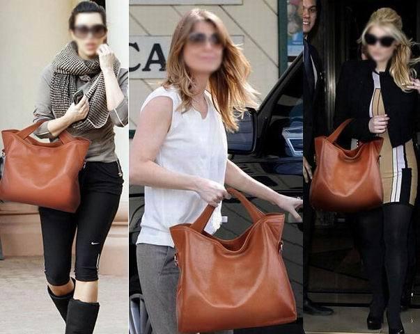 vintage Celebrity  women Genuine leather shopping handbag Tote Hobo purse bag