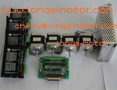 Nema17 stepper motor 75oz-in & 0.4A driver12-36VDC  DM420A 4axis kit CNC DIY