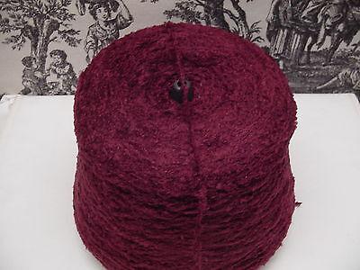 Acrylic Long Hair Chenille Yarn 900 YPP 1 cone 2.0 lb Color Merlot
