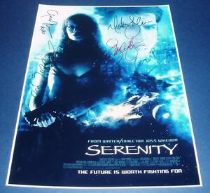 SERENITY-MOVIE-CAST-x5-PP-SIGNED-POSTER-12X8-FIREFLY
