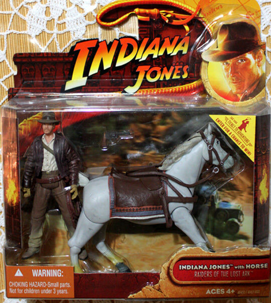 INDIANA JONES AND HIS HORSE  FROM RAIDERS RAIDERS RAIDERS OF THE LOST ARK. MOC HASBRO 2008 bf427f