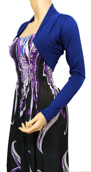 Ladies New  Bolero / Shrug Cardigan  Top - Size 10 - 22 (Royal Blue)