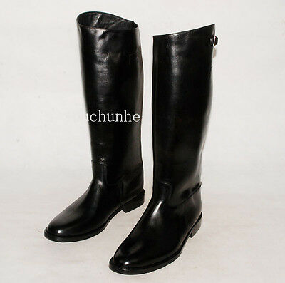 WWII GERMAN OFFICER LEATHER BOOTS IN SIZES-31689