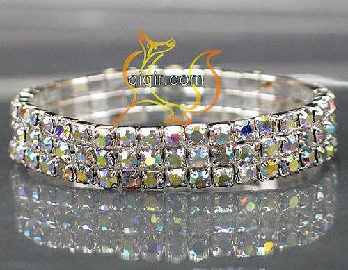 New Fashion lots 1-5 rangées Styles Strass Stretch Bracelets de cheville plus couleurs