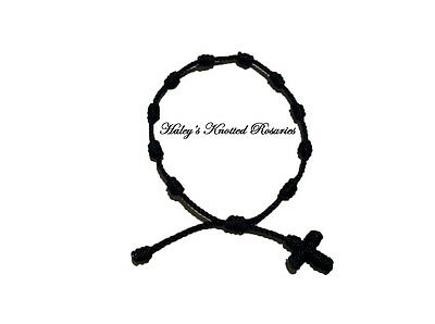 Knotted Rosary Bracelet - Black - Great Guarantee