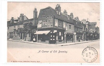 POSTCARD = BROMLEY, RARE Street Scene with POSTMARK with Shops, reference MOTORS