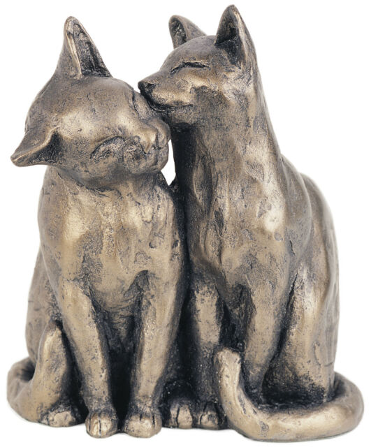 'Yum Yum and friend' Bronze Cat Kitten Sculpture by Paul Jenkins - Frith