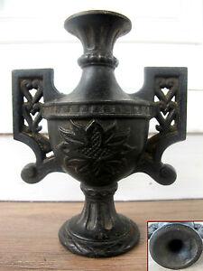 ancienne boule d part de rampe d 39 escalier cassolette en fonte de fer empire ebay. Black Bedroom Furniture Sets. Home Design Ideas